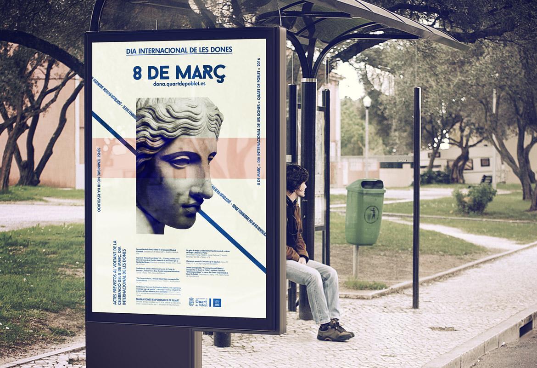 Diseño de Cartel y campaña para el 8 de marzo