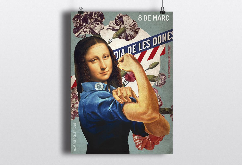 Diseño de Cartel y campaña para el 8 de marzo de 2015
