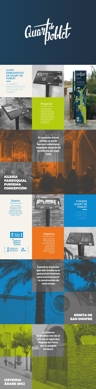Diseño Paneles Señaletica Turismo Quart de Poblet