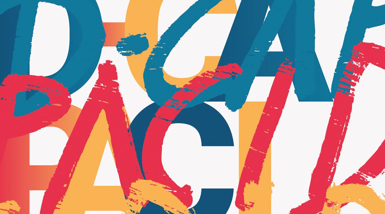 Fondo Ilustración Diseño Tipográfico para Fundación Bancaja D-Capacidad Exposición y Talleres.