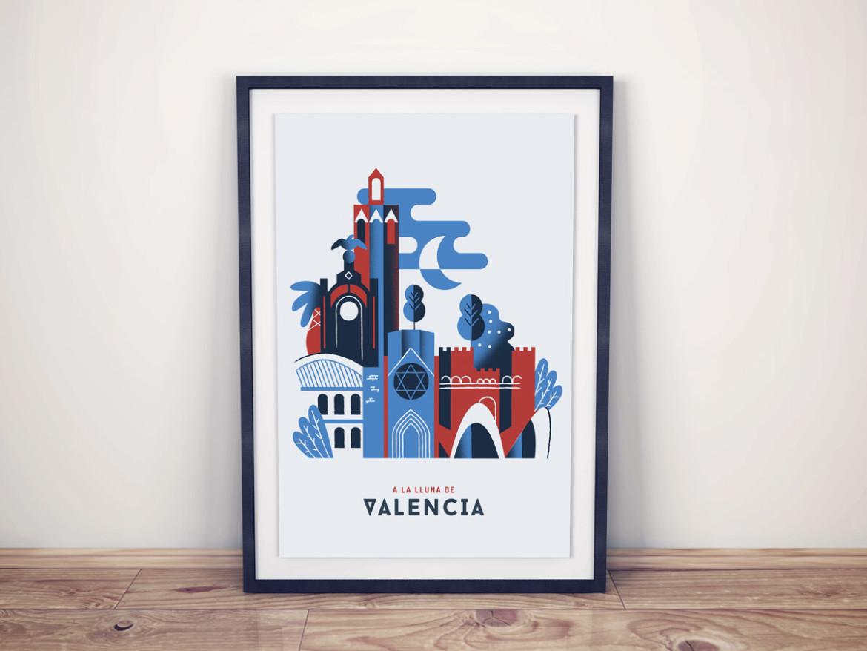 Ilustración Valencia Montado