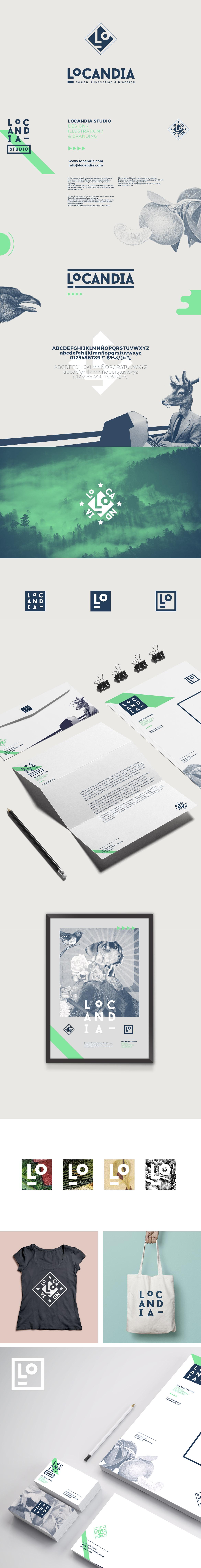 Locandia Estudio. Diseño, Ilustración y Branding. Identidad Corporativa