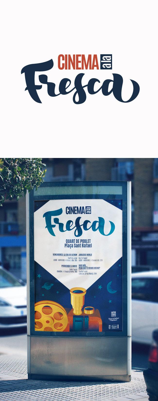 cartel para Cinema a la Fresca en Quart de Poblet