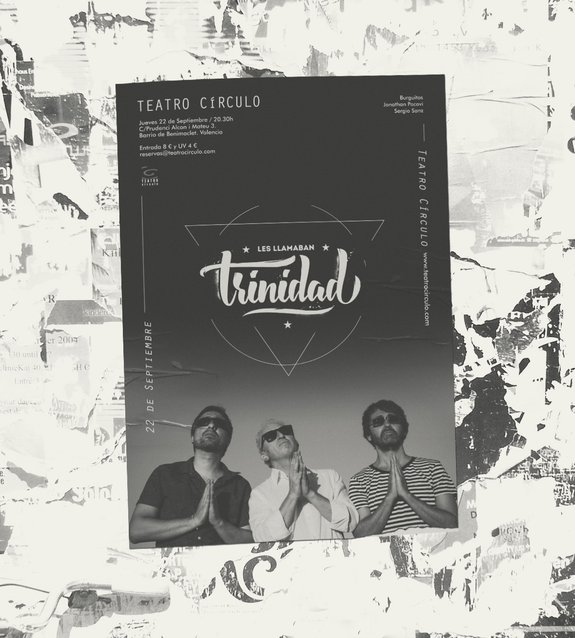 Cartel para Les llamaban trinidad
