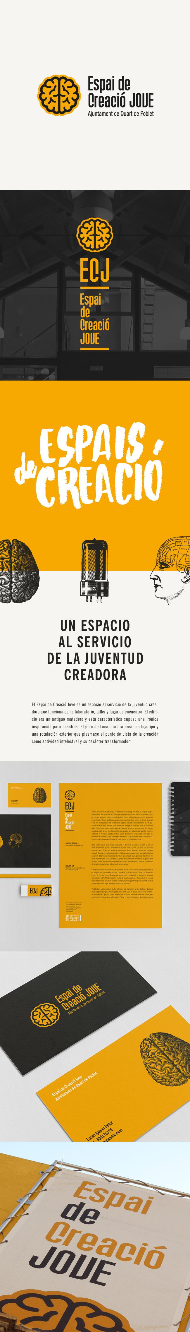 """Identidad Corporativa, Señalética y Papelería del """"Espai de Creació Jove"""" de Quart de Poblet"""