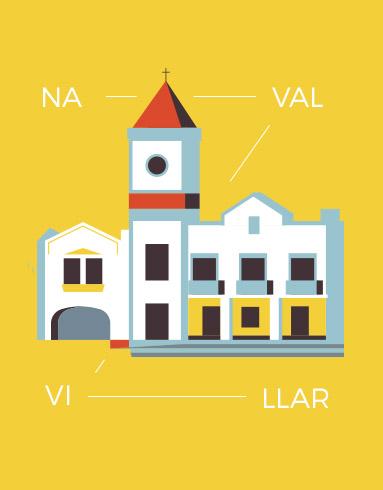 Ilustraciones para Navalvillar de Pela.