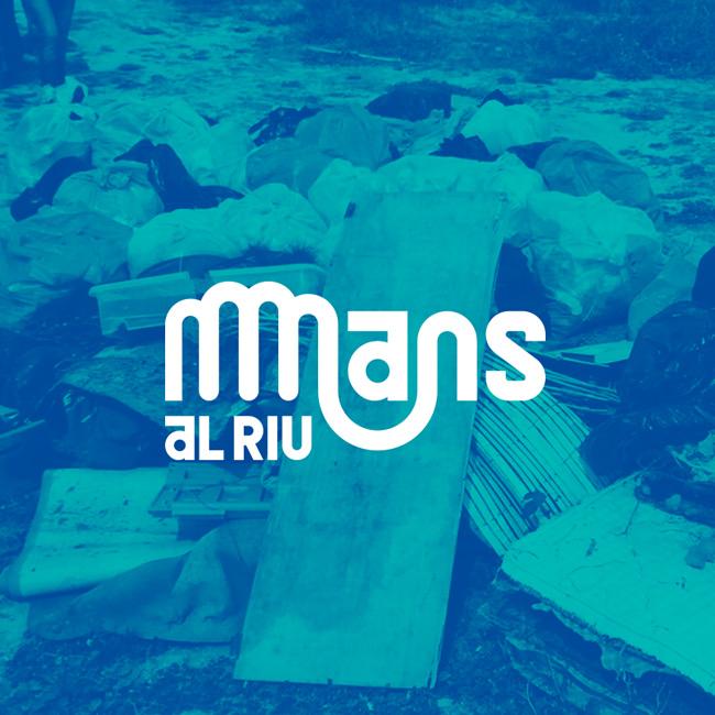 Logotipo Mans al Riu de Fundación Limne, Identidad Visual Mans al Riu, Mans al Riu Logotipo, Visual identity mans al Riu