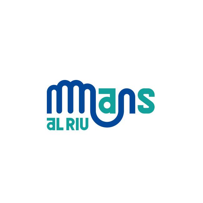 Logotipo Diseño de Identidad visual de Mans al Riu de Fundación Limne, Valencia